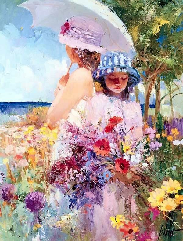 Цветы и девушки Daeni Pino 11
