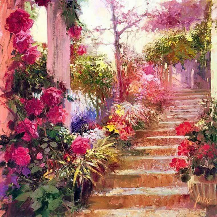 Цветы и девушки Daeni Pino 12