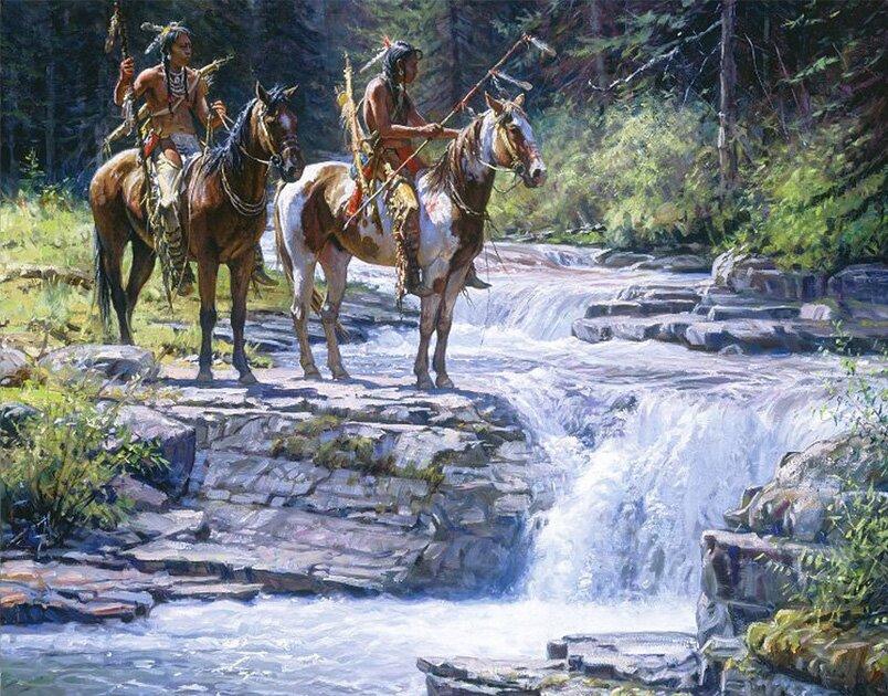 Индейцы в рисунках Мартина Греля 11