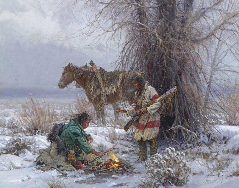 Индейцы в рисунках Мартина Греля 12
