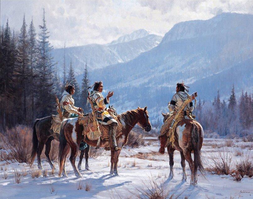 Индейцы в рисунках Мартина Греля 17