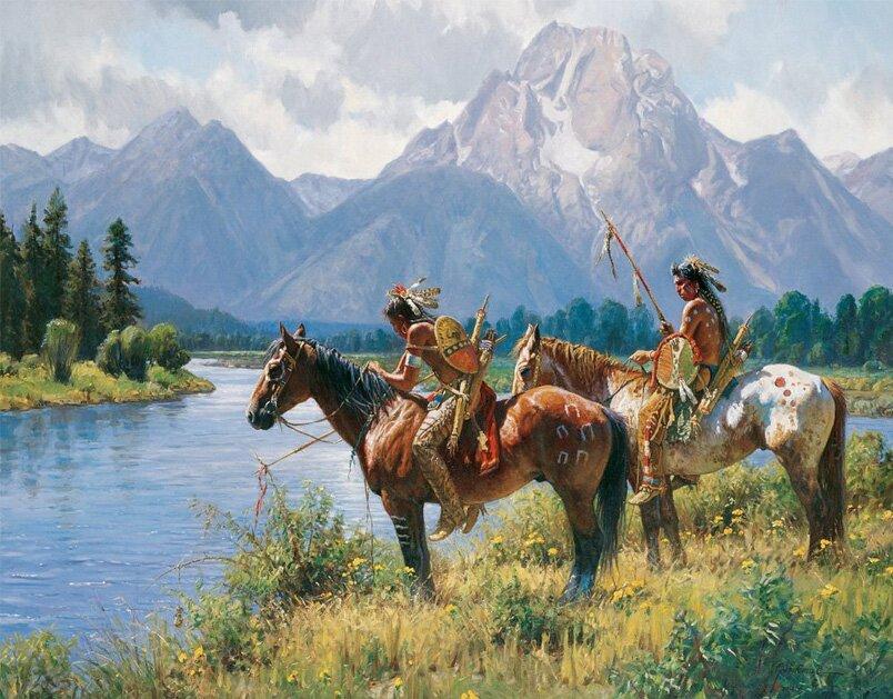 Индейцы в рисунках Мартина Греля 19