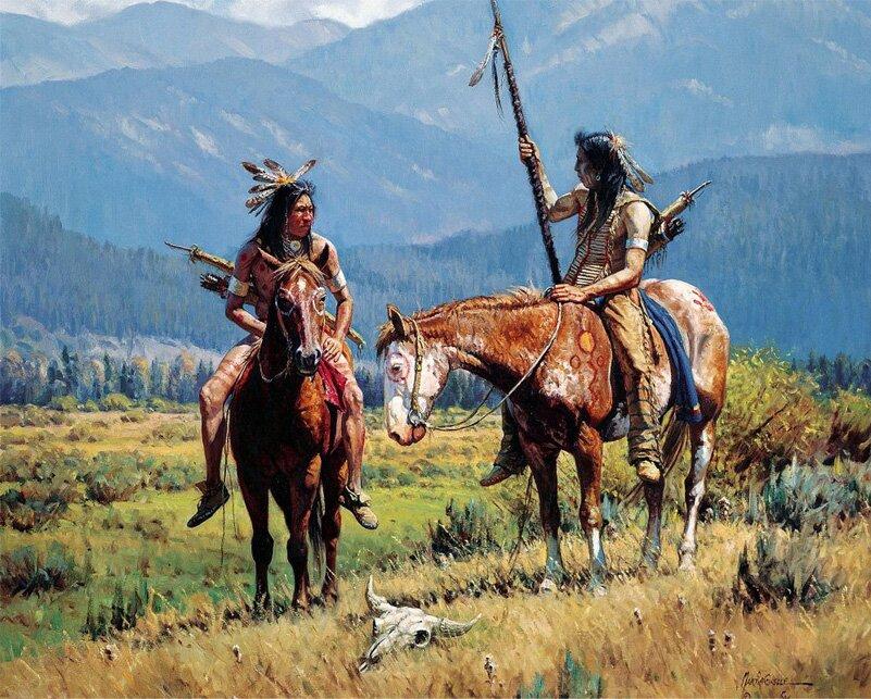 Индейцы в рисунках Мартина Греля 6