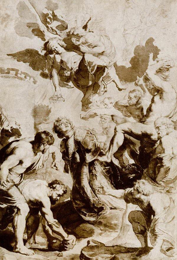 Наброски гравюры Рубенса 10