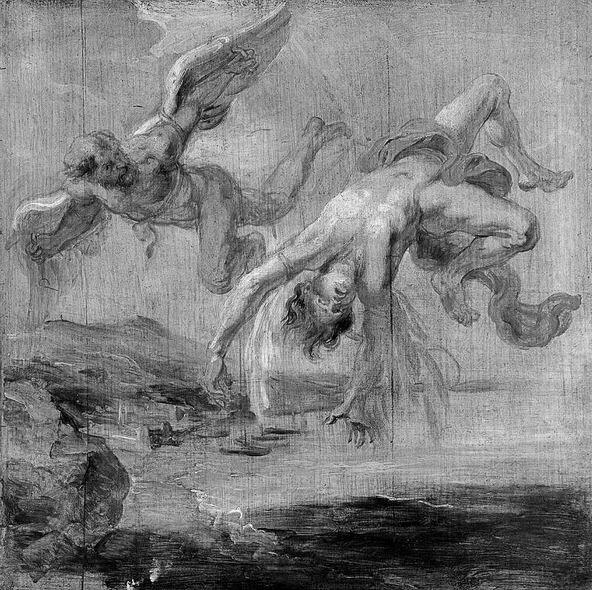 Наброски гравюры Рубенса 11
