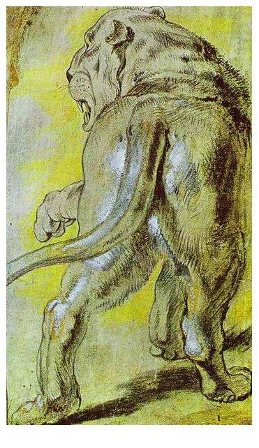 Наброски гравюры Рубенса 13