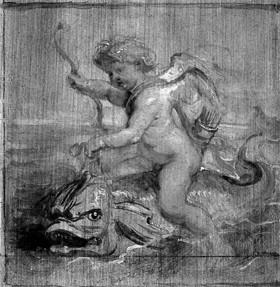 Наброски гравюры Рубенса 14