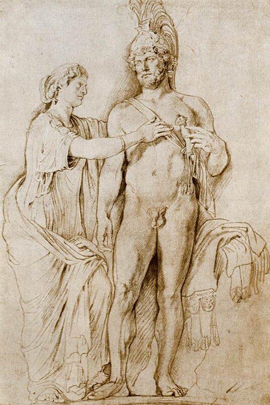 Наброски гравюры Рубенса 15