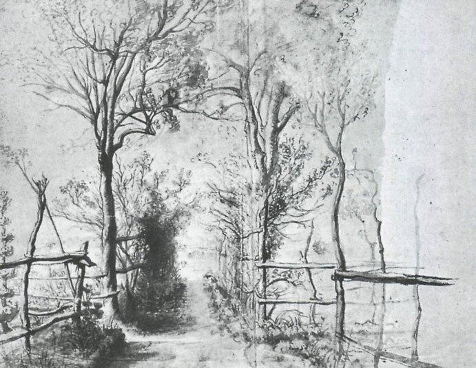 Наброски гравюры Рубенса 21