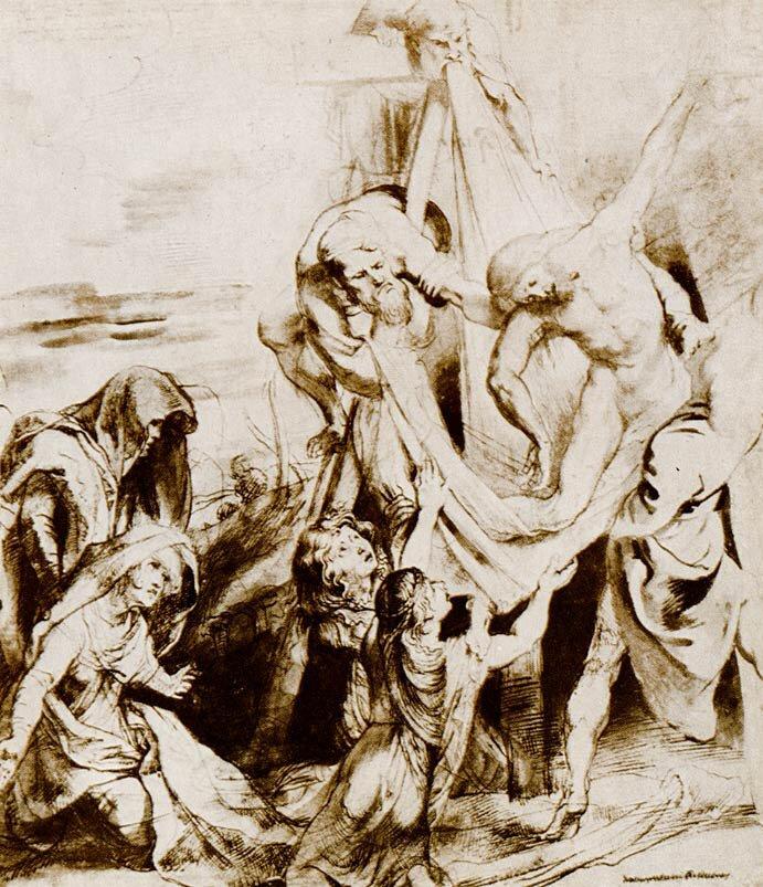 Наброски гравюры Рубенса 3