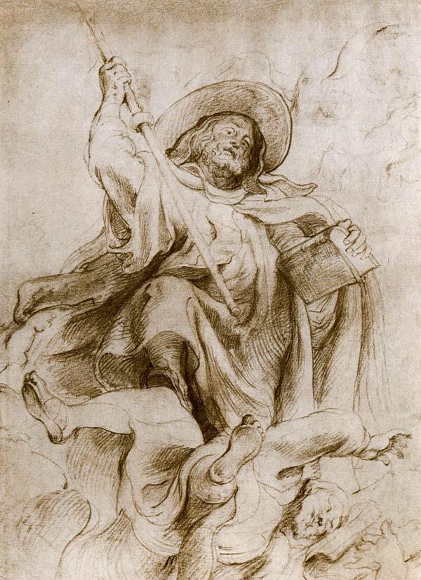 Наброски гравюры Рубенса 4