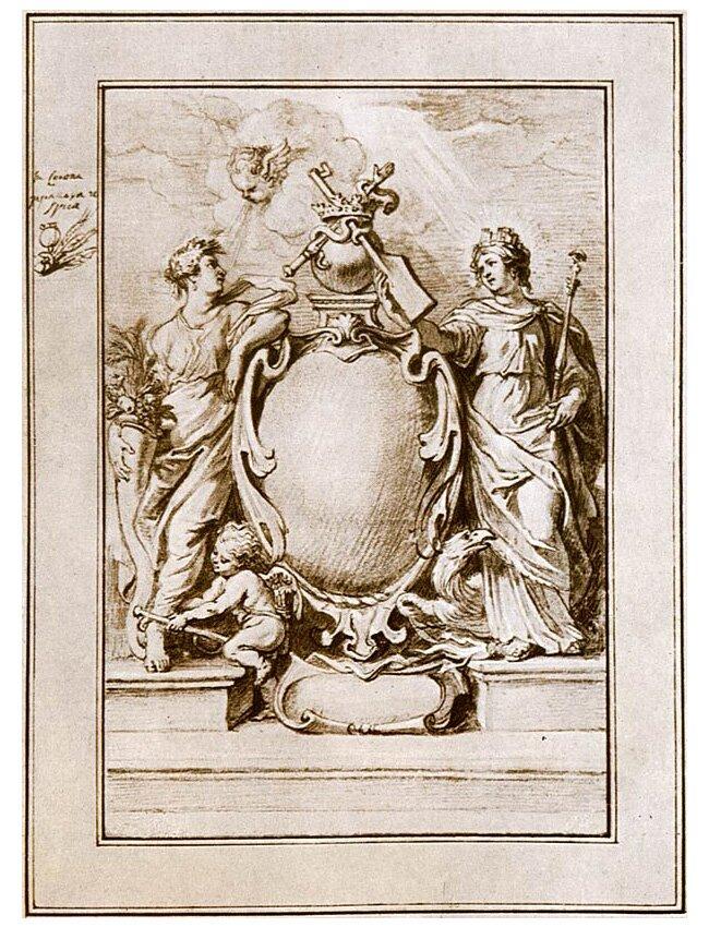 Наброски гравюры Рубенса 6