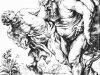 Наброски гравюры Рубенса 5