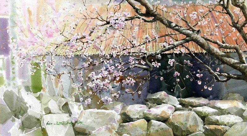 Рисунки акварелью Shin Jong Siк 12