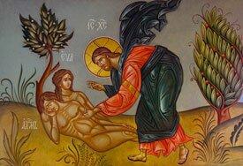 Икона Адам и Ева
