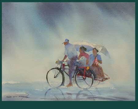 Рисунки акварелью Myoe Win Auna