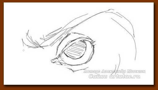 Рисовать глаза монстра