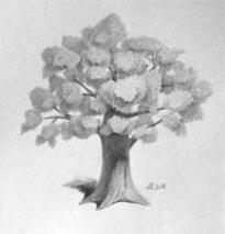 Красивые рисунки деревьев